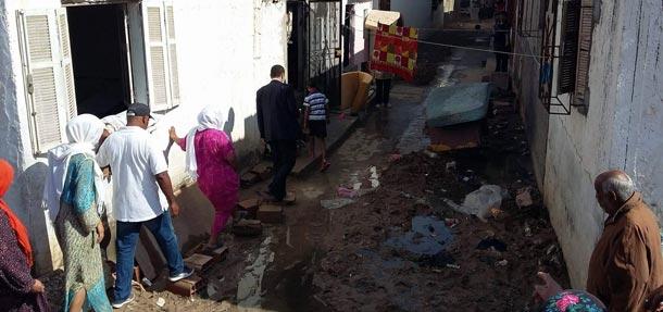 En photos : Les dégâts de la dernière pluie à Sidi Abdelhamid, Sousse