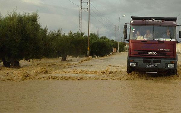 المنستير : وفاة كهل جرفته مياه الأمطار بزرمدين