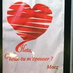 Photo du jour : une demande en mariage sur un panneau de la Marsa