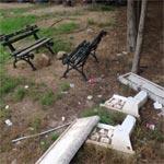 En photos : Le parc El Abidine de Carthage envahi par les ordures