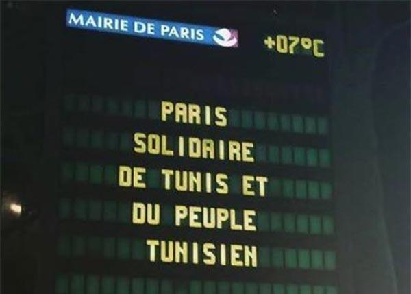 En photo : Paris Solidaire de Tunis