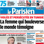 L'affaire du viol de la jeune femme fait la une du journal Le Parisien