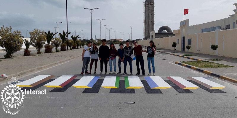 En photos : Un premier passage piétons ''3D'' testé en Tunisie