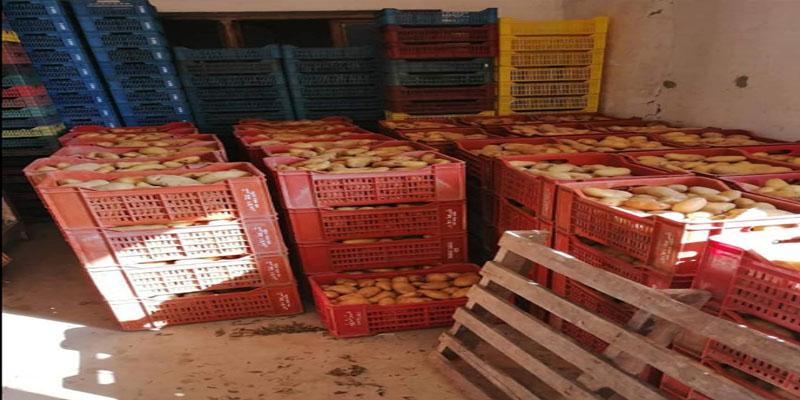راس الجبل: مخزن تبريد على ملك وكيل بيع بسوق الجملة يحتكر 265 طنا من البطاطا المحلية