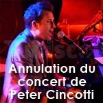 Annulation du concert de Peter Cincotti au Jazz à Carthage