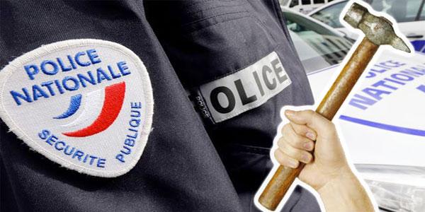 Un homme agresse un policier avec un marteau à Paris