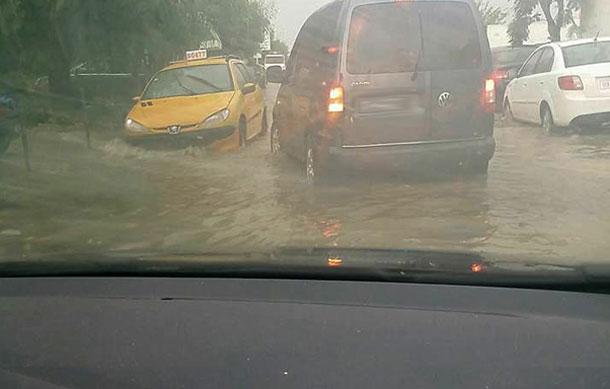 La pluie interrompt le trafic du métro N°4 au Bardo