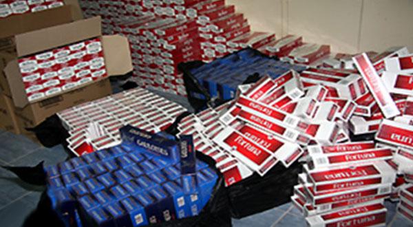 إحباط محاولة تهريب 23 ألف علبة سجائر