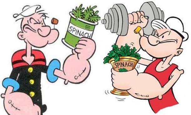 اقتدوا بـ'باباي' وتناولوا السبانخ بانتظام لتقوية عضلاتكم