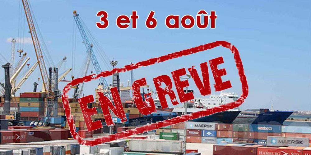Les ports observent une grève le 3 et 6 août