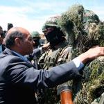En photos : Moncef Marzouki et Rachid Ammar rencontrent les unités spéciales à Jebel Chaambi