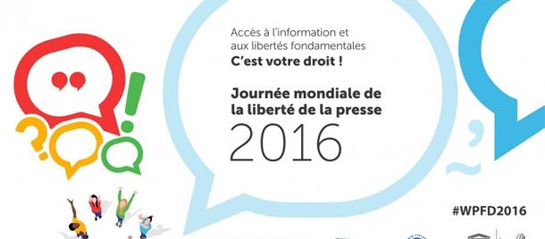 Journée mondiale de la liberté de la presse, aujourd'hui