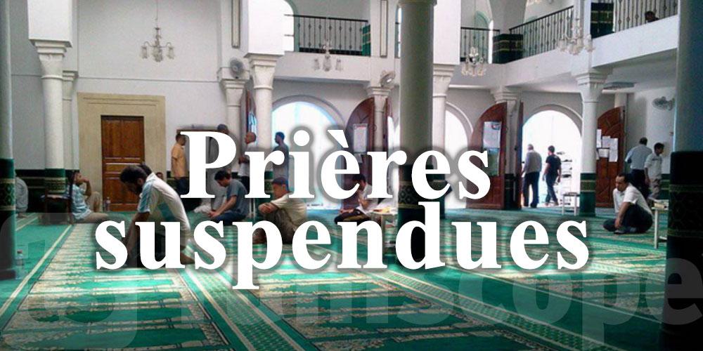 Confinement total, les prières suspendues dans les mosquées