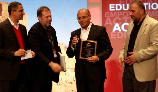 Le Prix annuel d'El Qods 2015, attribué à Moncef Marzouki