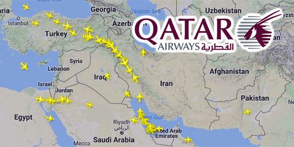 Qatar Airways obligé de passer par l'Iran suite aux interdictions de l'Arabie saoudite