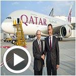 En vidéo : Livraison du premier A380 de Qatar Airways