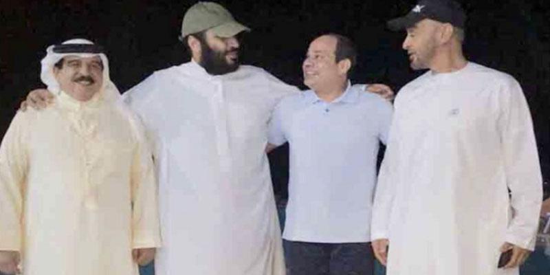 صورة تجمع بن سلمان والسيسي وبن زايد وآل خليفة تصنع الحدث على شبكات التواصل الاجتماعي