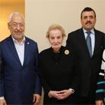 مادلين ألبرايت تشيد بدور حركة النهضة و رئيسها في الحكم وإرساء الديمقراطية