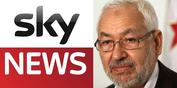 راشد الغنوشي يرفع قضية ضد قناة سكاي نيوز عربية