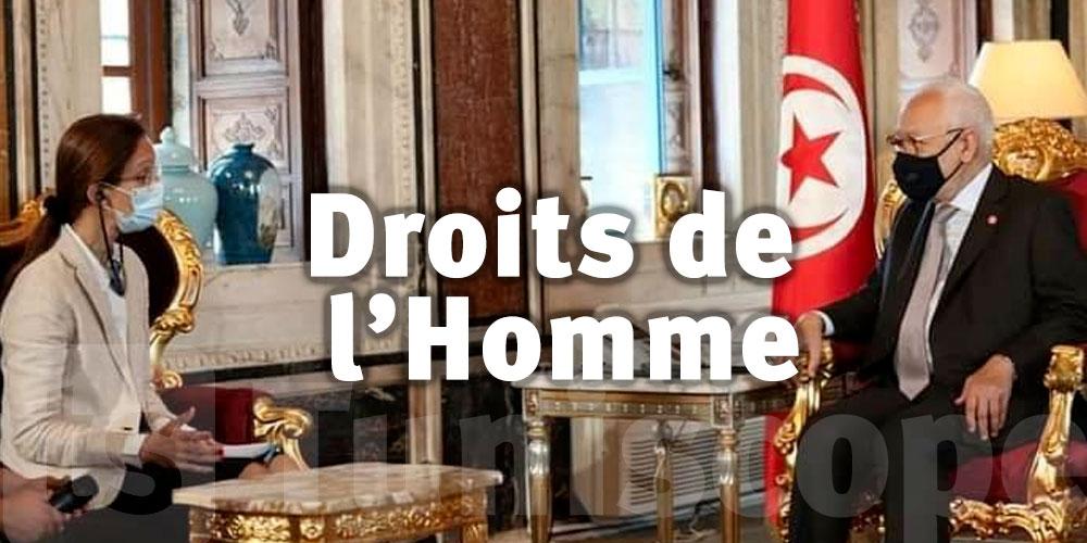 Rached Ghannouchi préoccupé par le dossier des Droits de l'Homme