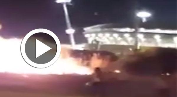 فيديو..الأمن يفرّق جماهير الإفريقي بالغاز المسيل للدموع