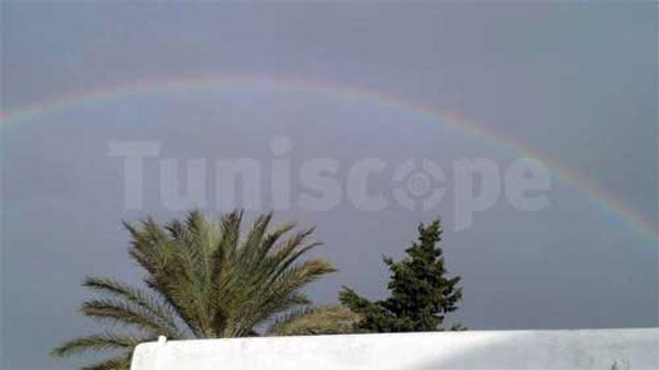 Photo du jour : Arc-en-ciel sur Tunis, après la pluie, le beau temps