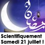 Du point de vue scientifique, le 1er jour de Ramadan serait ce samedi 21 juillet