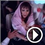 فيديو..المطربة أمينة «تتحجب» وتنطق الشهادتين بسبب «رامز واكل الجو»