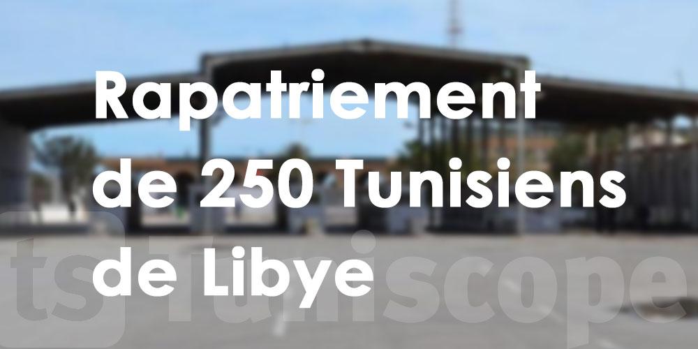 Rapatriement, par voie terrestre, de 250 Tunisiens de Libye