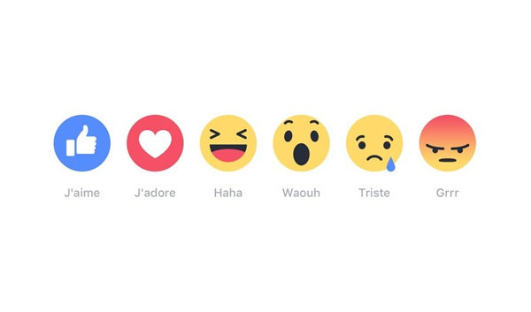 Facebook lance ''Réactions'' pour ne plus se contenter du bouton Like