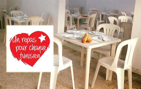 1er centre de distribution de repas gratuits à Mnihla : Prise en charge de 11 familles
