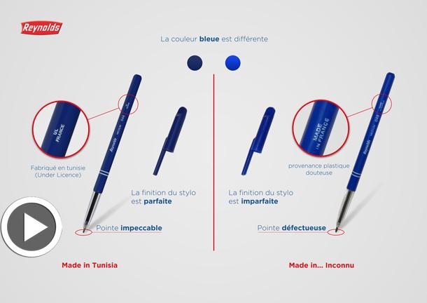 Vidéo –Reynolds : Des stylos de contrefaçon nocifs à votre santé sont en vente, voici comment les détecter
