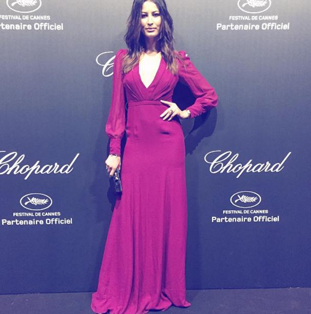 Cannes 2016 : Rim Saidi dans une robe signée Gucci lors de la soirée Chopard