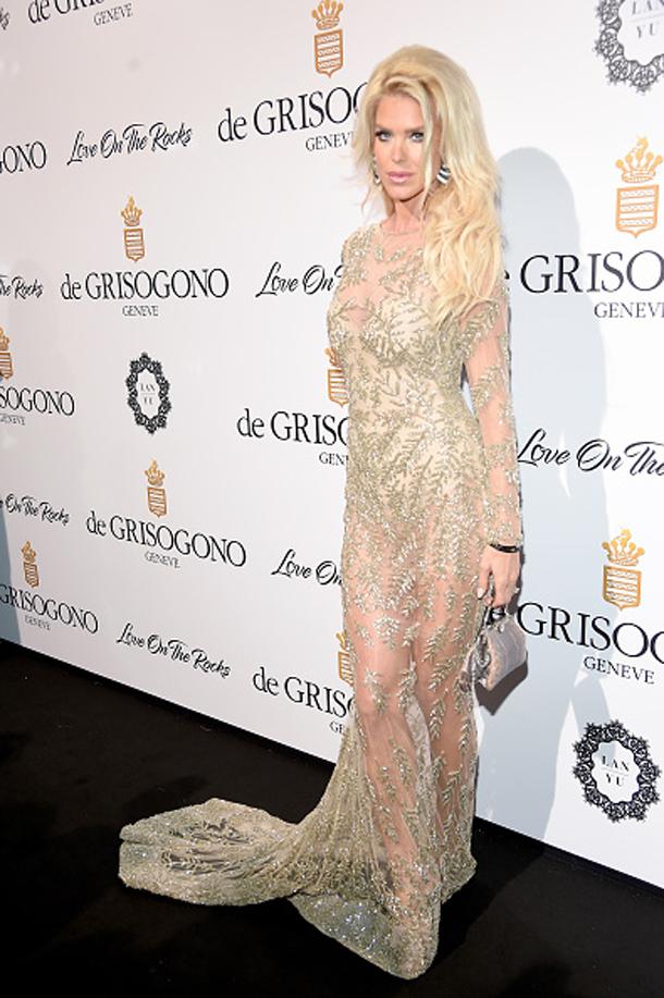 En photos-Cannes : La belle Victoria Silvstedt dans une sublime robe signée Ali Karoui