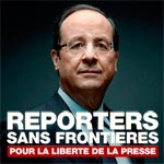 RSF interpelle François Hollande sur la situation de la liberté de l'information en Tunisie