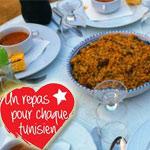 Un repas pour chaque Tunisien : Aidez l'association à servir des repas aux plus démunis