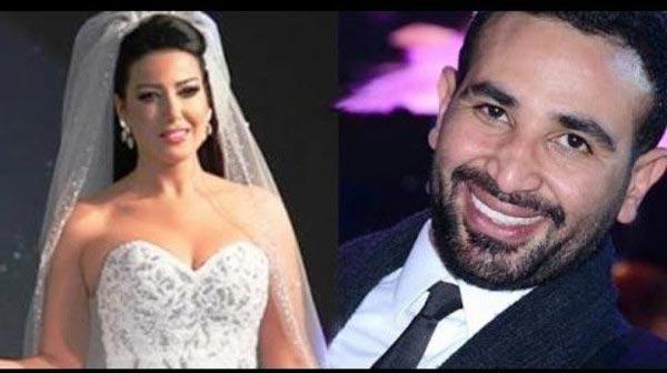 بعد سلسلة من الشائعات سمية الخشاب تتزوج أحمد سعد رسميا
