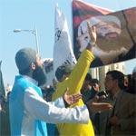 En photos :Les salafistes crient devant l'ambassade d'USA : On est tous Ben Laden !!!