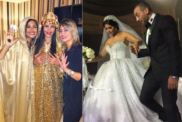 بالصور: حفل زفاف الممثلة التونسية ''ساندي'' برجل أعمال مصري