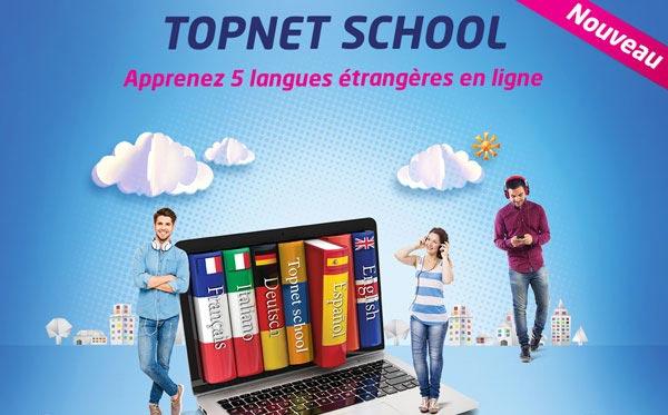 Topnet lance ''TOPNET SCHOOL'' Une solution de e-learning pour l'apprentissage des Langues étrangères