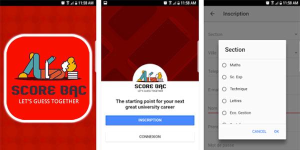 Lancement d'une application mobile SCORE BAC 2017