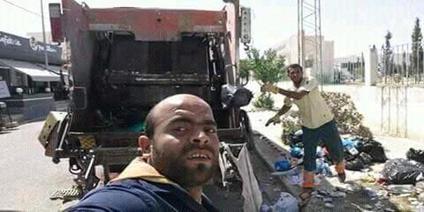 Photo du jour : Il prend un selfie avec le camion poubelle