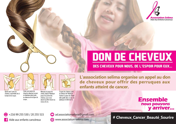 L'association Selima : Faites don de vos cheveux pour les enfants atteints de cancer