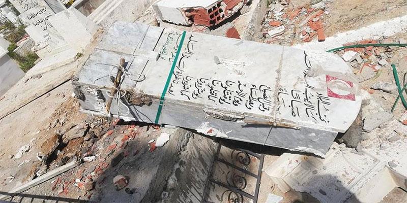 بالصور، اعتداء صارخ على قبر الشاعر الراحل الصغير أولاد حمد