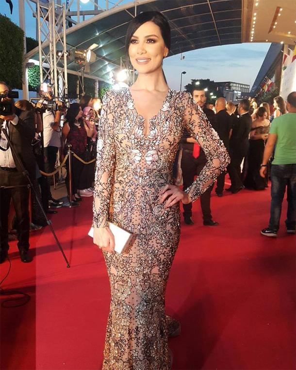 En photo....Murex D'or 2017 : Shayma Helali fait sensation avec une jolie robe signée Nicolas Jebran