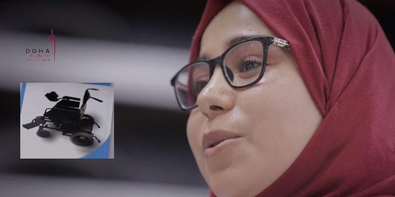 Inventant un fauteuil roulant intelligent, une Tunisienne gagne l'or à Doha