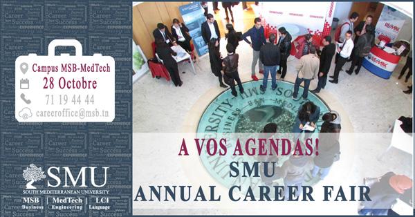 La South Mediterranean University organise la 3ème édition de sa « Journée Carrières » annuelle