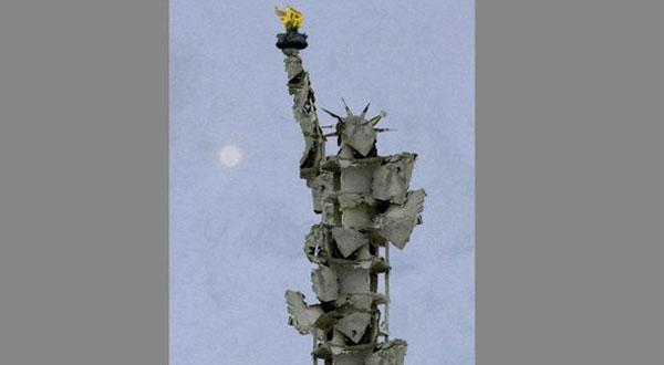 هذه حقيقة صورة تمثال الحرية في سوريا!