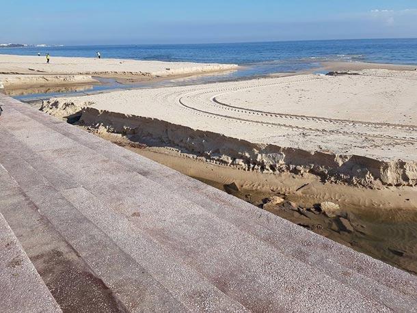 En photos : Découvrez la plage Sidi Boujaafar de Sousse après la pluie d'hier