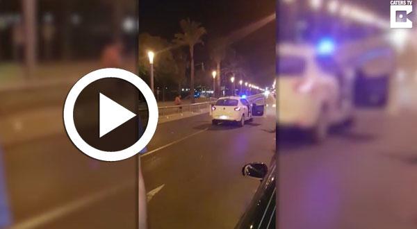 فيديو صادم..لحظة قتل الشرطة لمشتبه به في هجوم برشلونة